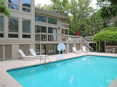 Photo for Sea Pines Resort: 15 Black Skimmer 30 seconds to beach,  5 BR, Large Pool, Lanai