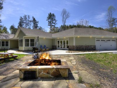 Photo for A Secluded 3 Bedroom Cabin Above Stream close to Pigeon Forge and Gatlinburg!