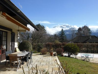 Photo for House with pool on the shores of Lake Annecy