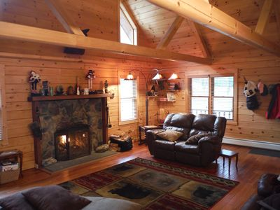 Photo for Beaver Lodge Log Cabin  - Killington - Perfect All Seasons - Timeless Experience