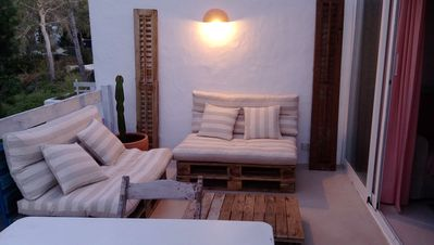 Photo for Apartment 250 meters from the beach, free WIFI and terrace with views. Swimming pool