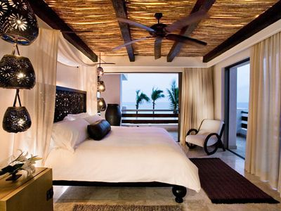 Master Bedroom of the Penthouse Suite at the Cabo Azul Resort
