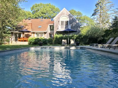 Photo for Bright & Airy Saltbox w/ Pool in a Private Beach Community