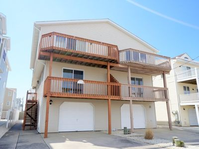 Photo for 1 1/2 blocks to a great beach. Quiet residential location. Off street parking, garage and outside shower