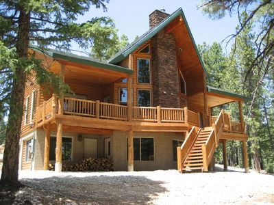 Photo for Luxury Duck Creek Pines Cabin Backs National Forest