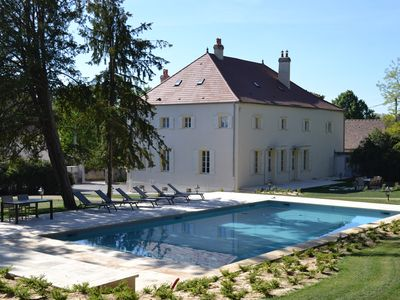 Photo for Ancient winemakers home with private heated pool in the heart of Mercurey