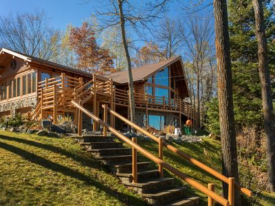 Photo for Private Leech Lake Dream Log Home