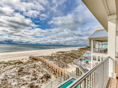 Photo for Luxurious Gulf-front home w/ private plunge pool, steps from the beach!