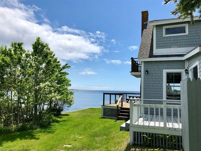 Photo for 3 bedrooms, 1.5 bathrooms with a spacious deck at the waters edge.