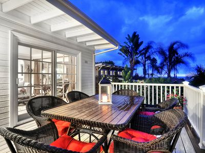 Photo for NEW LISTING! Oceanview home with spacious deck with firepit, 1 mile to beach!