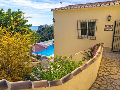 Photo for Beautiful private villa for 8 guests with private pool, WIFI, A/C and parking