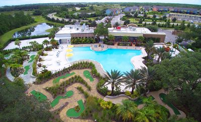 Elegant 5Bd Sleeps14 w Pool/Spa close to Disney at Festival Resort 361