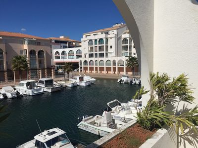 Photo for Apartment T2 - Gde terrace - Marina View - WiFi - 100m from the beaches and shops