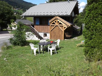 Photo for Detached chalet & atypical 4 pers. Les Gets 1km from the slopes, 200m2 of land