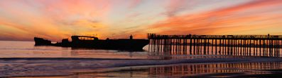 Famous Aptos cement ship at dusk