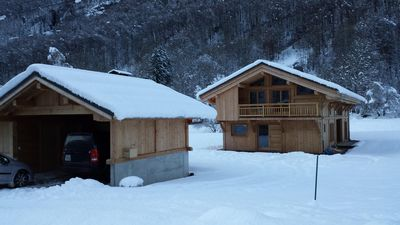 Photo for CHALET 4 * VERY NATURE RESERVE TEAM SITE CLASS SKI TOURING-BIKE
