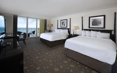 Photo for On The Beach! Lovely Oceanfront Studio Suite with Balcony, Pool, Spa and More