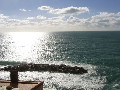 Photo for Few meters from the sea, with balconies overlooking the sea in the park of 5 terre.