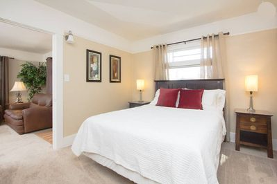 Front bedroom, with a very comfortable queen bed!