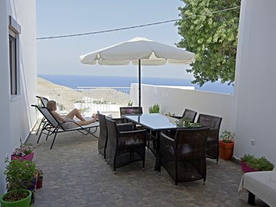 Photo for Villa with views of the whole of Lindos, Acropolis and the sea (200m2 + 80m2 3x terraces)
