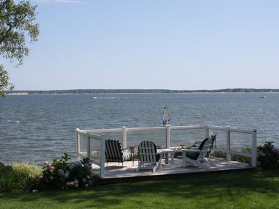 Photo for The Hydrangea House - Beautiful Home With a Private Beach On Peconic Bay