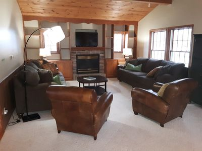 Photo for Fantastic large family home right on beautiful Lake Pepin!