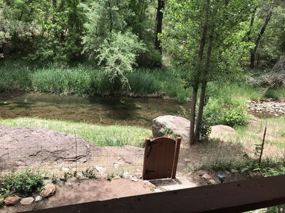 Creek View from Covered Patio - Stocked with Trout from April- September