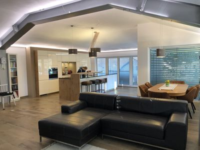 Photo for 150m2 panoramic view - very large and modern kitchen