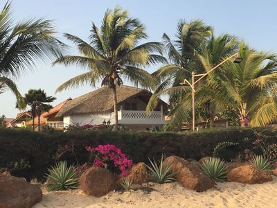 Photo for villa 1st line sea on the most beautiful beach of saly 100 m from everything.