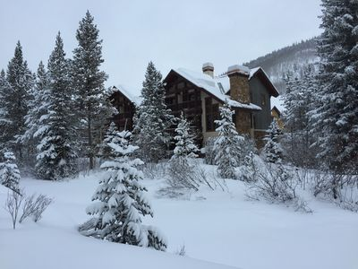 The townhouse as seen from the ski area