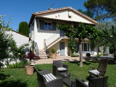 Photo for Beautiful 3-room and 78-sq.m flat on the ground floor of a villa, private spa