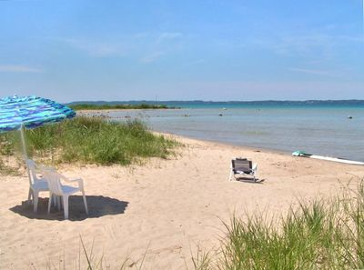 Walk along the shore or swim for hours on the private beautiful sandy beach.
