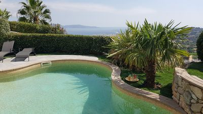 Photo for ST-TROPEZ GULF, 180 ° SEA VIEW, SWIMMING POOL, BILLARD GAMES ROOM, NEAR CENTER / PLAG