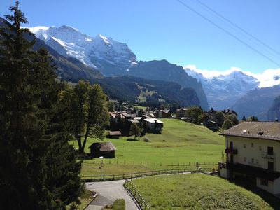 Photo for Beautiful Top Floor Apartment in Wengen