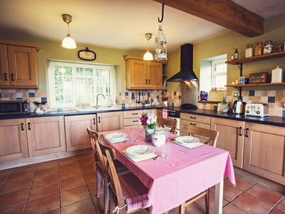 Farmhouse kitchen, complete with solid fuel Rayburn