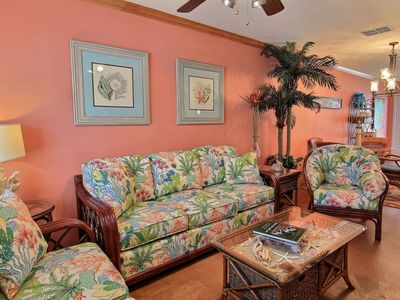 Photo for Beautiful condo, just a short walk to the beach. Community pool!