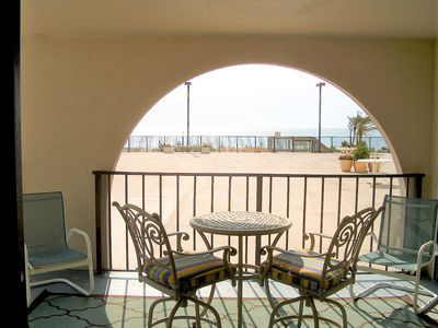 Photo for NEW LISTING!  Direct ocean front, on the pool deck & steps to the beach!