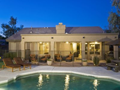 Photo for Stylish Family Friendly Home - Kierland - Putting Green, Fenced Pool/Spa, BBQ