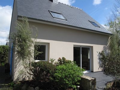 Photo for New house beautiful garden 1.5 km from the beach of Pors Mabo in Trébeurden