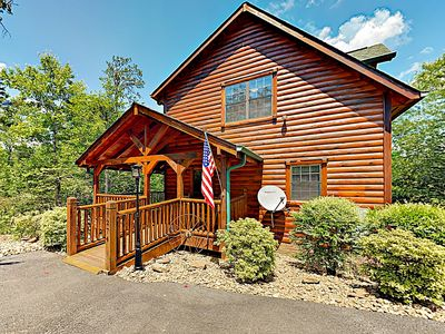 Photo for New Listing! Peaceful Serenity: Luxe Hideaway w/ Private Hot Tub & Game Room