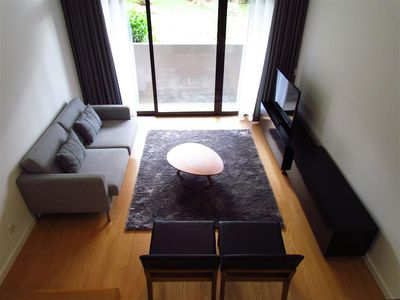 Photo for 2 Bedroom Apartment with a amazing view to the lush garden and the stunning pool