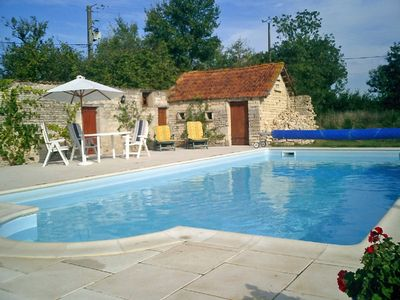 Photo for Charmingly restored farmhouse in 1/2 acre with 10m x 5m pool. Offers available
