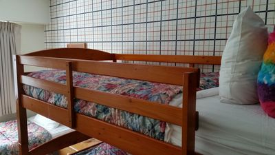 New bunk bed.  Now two bunk beds sleeping four in second bed room.