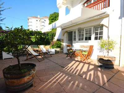 Photo for T2 apartment in ground floor of villa in St-Jean-de-Luz, with terrace.