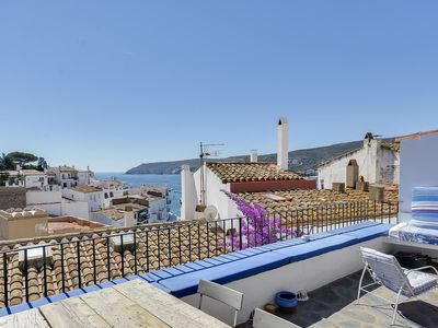 Photo for House in the village, old and renovated, charming, sea view