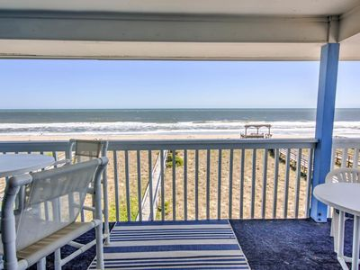 Photo for Oceanfront Condo, Top Floor with covered deck and incredible views!