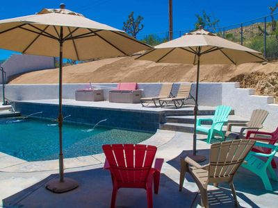 Photo for Stylish 5 BR w/Pool, Spa, Games, and Hiking!