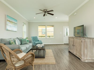Photo for NEW LISTING! Gulf view home w/decks & great views -steps to the beach, 2 dogs OK