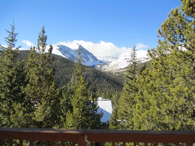 Breathtaking views of Quandary Peak from the windows and decks
