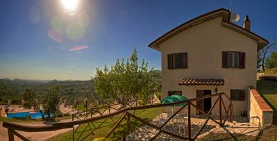 "Photo for Small Villa ""il Casaletto"", pool, fantastic valley view on Roman countryside"